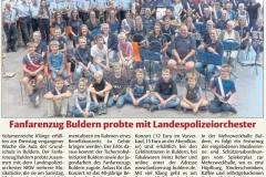 FZB Probe mit dem LPO NRW in den Streiflichtern 18.07.2018