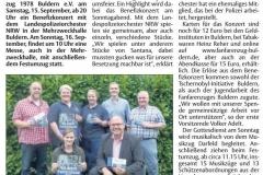 Bericht Streiflichter vom 12.09.2018, Teil 2