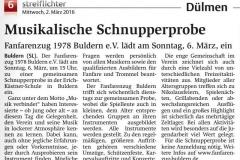FZB Schnupperprobe Streiflichter 2016